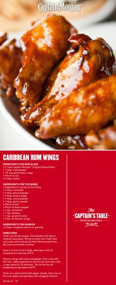 Add a dash of the unexpected to your gathering with the Captain's sweet modern twist on a favorite party appetizer recipe! #chickenwings #glaze
