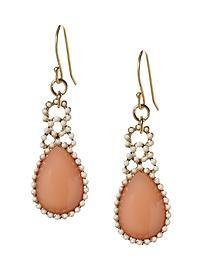 peachy beachy earrings