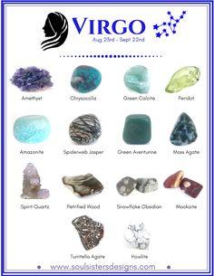 Virgo Healing Crystals by Soul Sisters Designs