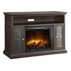 Shop for Pleasant Hearth Riley Espresso Media Fireplace - 23 Inch Firebox - Brown. Get free delivery On EVERYTHING* Overstock - Your Online Home Decor Outlet Store! Media Fireplace, Fireplace Console, Faux Fireplace, Fireplace Inserts, Electric Fireplace Reviews, Electric Fireplace Tv Stand, Electric Fireplaces, My Living Room, Display