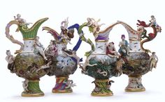 FOUR MEISSEN EWERS EMBLEMATIC OF THE ELEMENTS CIRCA 1880   http://www.christies.com/lotfinder/lot/four-meissen-ewers-emblematic-of-the-circa-4800231-details.aspx?intObjectID=4800231
