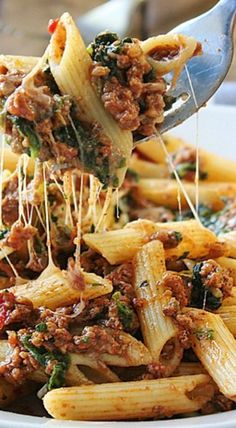 Slow Cooker Beef and Cheese Pasta Beef: Substitute the ground beef in this recipe with  your favorite Johnsonville Ground Italian Sausage.