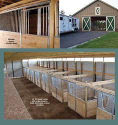 Horse Stall Kit: Modular Horse Stall Kits by Triton Barn Systems. Horse stall kit door options and assembly instructions.