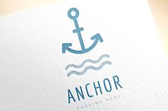 Anchor vector logo icon. Sea, sailor by Vector-Stock on Creative Market