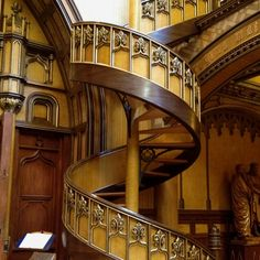 Beautiful staircase (in old Montreal church)
