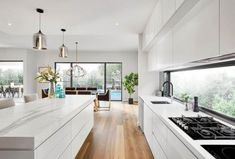 USA contemporary home decor and mid-century modern lighting ideas from DelightFU Modern Kitchen Design, Interior Design Kitchen, Modern Interior Design, Best Kitchen Designs, Open Plan Kitchen Living Room, Home Decor Kitchen, Kitchen Themes, Kitchen Layout, Wood Floor Kitchen