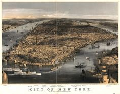 Although, as of 1856, there were still no bridges and boats were the only method of transportation off of Manhattan. | 27 Maps Showing How NYC Evolved