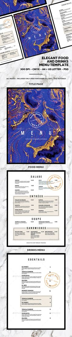 french bistro menu template - Google Search Menu Pinterest - drinks menu template