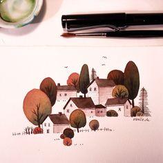 Quick little work-break-sketch  #sketch  #watercolor #illustration #sketchbook #art #lamy #lamysafari by iraville