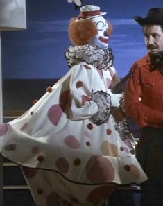 Kate Jackson as Sabrina - clown costume