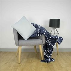 The Ardor Akira Plush Blanket Navy 203 x adds warmth and contemporary style to your space