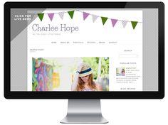 Free Blogger Template: Charlee Hope | DesignerBlogs.com