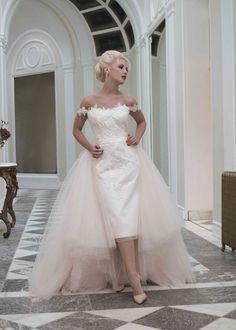 Sophia Dress Photo One House of Mooshki, blush tulle detachable skirt