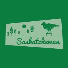 Art print of Canadian Province of Saskatchewan, highlighting one of Saskatchewan's provincial animals. Canadian Art, The Province, Freelance Illustrator, Pigment Ink, All Print, At Least, Digital Art, Colours, Canada