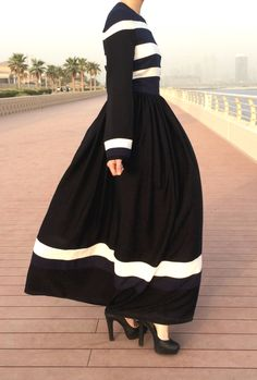 White Navy Stripes Dress by LanaLik on Etsy