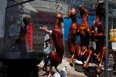Hundekadaver an einem Verkaufsstand in Yulin.