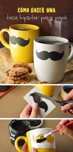 Despierta a papá en su día con esta taza que hará tener un look diferente cada que beba su café.