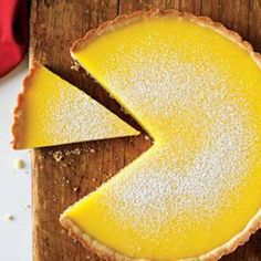 Luscious Lemon Tart with Gingersnap Cookie Crust - Yummy :) Tart Recipes, Greek Recipes, Dessert Recipes, Cooking Recipes, Desserts, Citrus Recipes, Ginger Snap Cookies, Cookie Crust, Food Processor Recipes