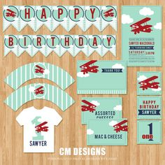 Airplane Birthday DIY Party Package