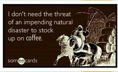 I always stock up on Coffee ❤