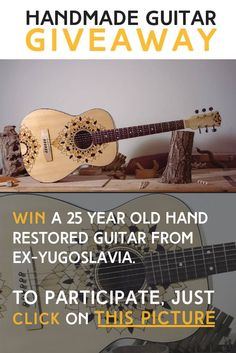 December $650 hand restored guitar giveaway!