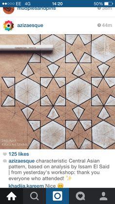 Azizaesque Islamic Art Pattern, Arabic Pattern, Pattern Art, Geometric Pattern Design, Geometric Designs, Geometric Art, Textures Patterns, Floral Patterns, Ceramics Monthly