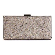 Mauve Daisy Glitter Clutch Bag (1 135 SEK) ❤ liked on Polyvore featuring bags, handbags, clutches, glitter handbag, glitter purse, glitter clutches, mauve handbag and brown handbags