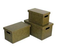 Set de 3 cajas – verde