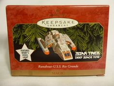 Star Trek Deep Space Nine Runabout Hallmark Keepsake Magic Ornament 1999 QXI7593 #StarTrek #USSRioGrande #Runabout #Hallmark #Christmas
