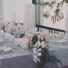 At a #weddingfair today love this #silver #sparkly #decoration #wedding #lbloggers