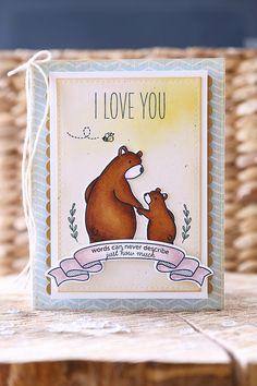 Just ME: bear hugs! {mama elephant stamp highlight}
