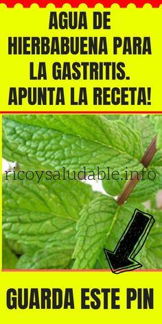 #AGUA DE #HIERBABUENA PARA LA #GASTRITIS . #APUNTA LA #RECETA !