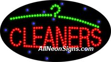 """Animated Cleaners LED Sign-ANSAR24032  15""""x27""""x1""""  Animated  8lbs  Indoor use only  Low energy cost: Uses ONLY 10 Watts of power  Expected to last at least 100,000 hrs  Cool and safe to touch, low voltage operation  High visibility, even in daylight  Easy to clean, Easy to install, Slim & Light Weight  Maintenance FREE  1 YEAR Warranty."""
