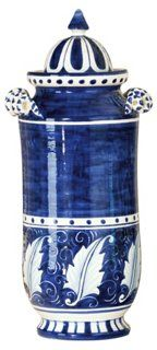 Blue Bianco Large Canister (Vietri at one kings lane)