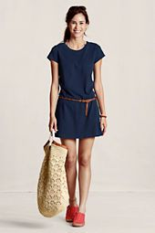 #landsendcanvas dress or swim suit cover up? why not both! Beach wear for spring that is chic!