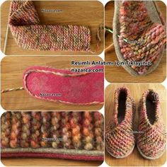 keine bottom-of-the-fàcil-home-sabata-botins d'òrgans Easy Knitting, Knitting Needles, Knitting Patterns, Crochet Patterns, Knitted Booties, Crochet Slippers, Sheep Tattoo, Small Blankets, Felt Shoes