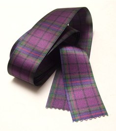 Purple Tartan Ribbon from Scotland.  This ribbon can be custom made into any pattern.