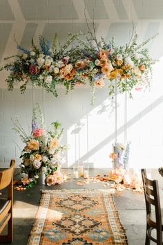 The arch was inspired by flowers. Our bride loves flowers. She wanted to decor her wedding with many flowers in a boho style. Wedding Ceremony Arch, Wedding Altars, Wedding Ceremony Decorations, Floral Wedding, Wedding Colors, Spring Wedding Flowers, Home Wedding, Dream Wedding, Flower Installation