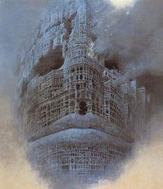 Untitled- Zdislav Beksinski, Image via www.lazerhorse.org