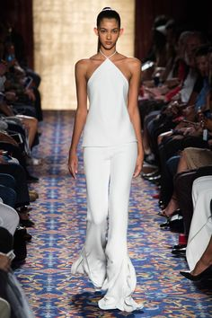 A look from Brandon Maxwell's spring 2017 collection. Photo: Imaxtree.