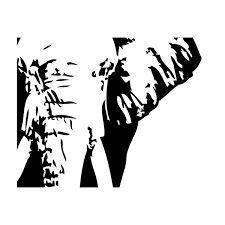 Afbeeldingsresultaat voor olifant silhouet