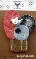 needlefelt or fabric scraps