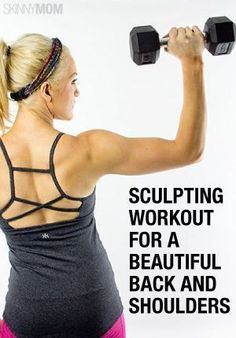 Sculpting Workout for a Beautiful Back and Shoulders - With tank top season slowly creeping its way in, now's the time to focus on sculpting a sexy upper body. All you need are a few good exercises that target your shoulders in addition to creating a stro Fitness Diet, Fitness Motivation, Health Fitness, Workout Fitness, Running Motivation, Fitness Quotes, Back And Shoulder Workout, Shoulder Routine, Sport