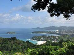Karon Viewpoint showing Kata Noi Beach, Kata Beach and Karon  Beach.