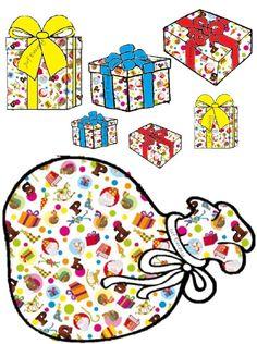 Juf Emmy SORTEERSPEL Knip de pakjes uit en Kleef deze op een wasknijper. Geef de kleuters de opdracht de pakjes in de correcte zak van zwarte piet te stoppen. (Aan de zak hangen met de wasknijper) Saint Nicolas, Theme Noel, Christmas Clipart, December, Clip Art, Kids Rugs, Logos, School, Xmas