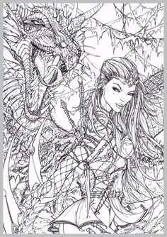 Grimm Fairy Tales Adult Coloring Pages Mandala Comic Books Colouring Witches Dragons Artist Bruges Comics Train Your Dragon In