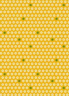 BRIGHT sunny YELLOW tiny floral fabric from ANTHOLOGY. Perfect for your kids sewing projects :D http://etsy.me/L9ec3u via @Etsy $5.45