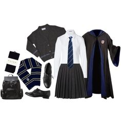 Designer Clothes, Shoes & Bags for Women Harry Potter Welt, Harry Potter Uniform, Hogwarts Uniform, Harry Potter Oc, Harry Potter Anime, Harry Potter Outfits, Harry Potter Halloween Costumes, Couple Halloween Costumes, Ravenclaw