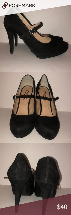 RSVP Spencer's black suede Mary Jane pumps 8.5 W These are a very gently used RSVP Spencer Mary Janes black suede size 8.5 W. They look great. Thank you for looking! RSVP Shoes Heels
