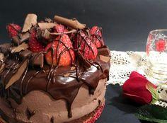 marronglacè: Drip cake de chocolate y fresas